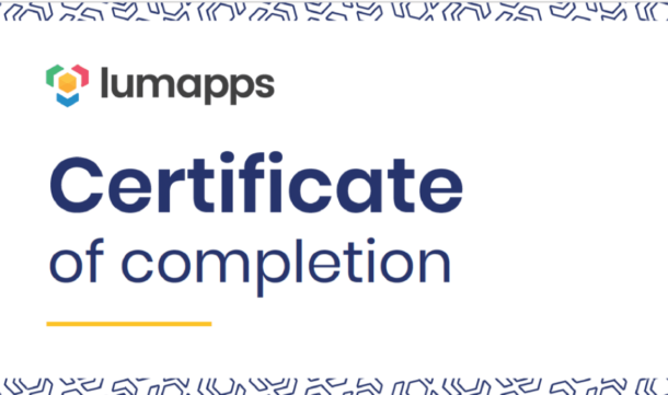 lumapps certificate of completion