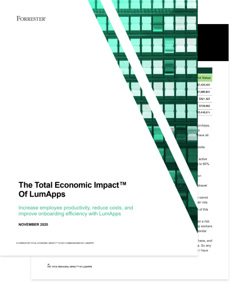 The Total Economie Impact of LumApps (Forrester)