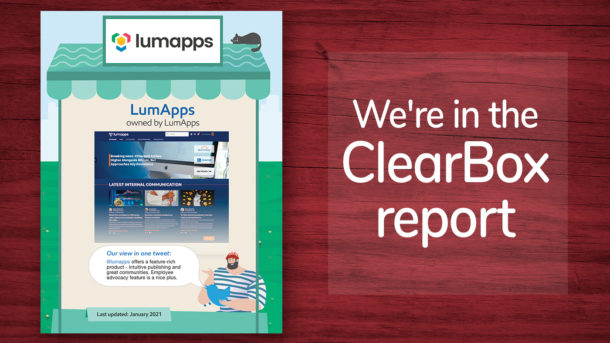 LumApps Recognized by Clearbox Consulting - News